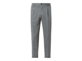 Slim Fit Bundfaltenhose mit Stretch-Anteil Modell 'Brady'